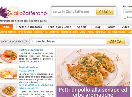 Internet ecco i siti di cucina preferiti in italia food web for Siti di ricette cucina