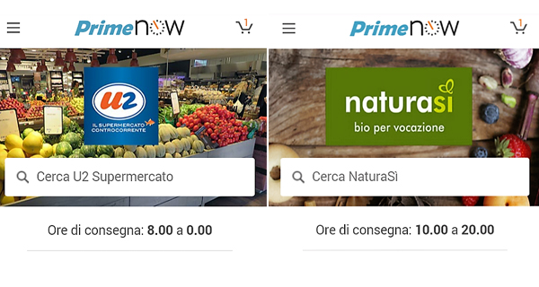 Unes e NaturaSì, consegne flash con Amazon Prime