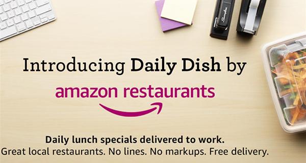 Daily Dish, al pranzo in ufficio ci pensa Amazon