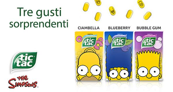 Arrivano i Simpson sulle confezioni Tic Tac