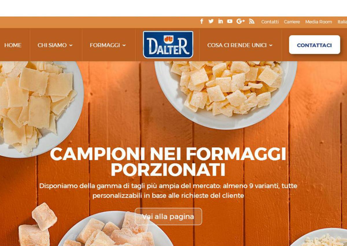 Dalter Alimentari, un nuovo look sul web