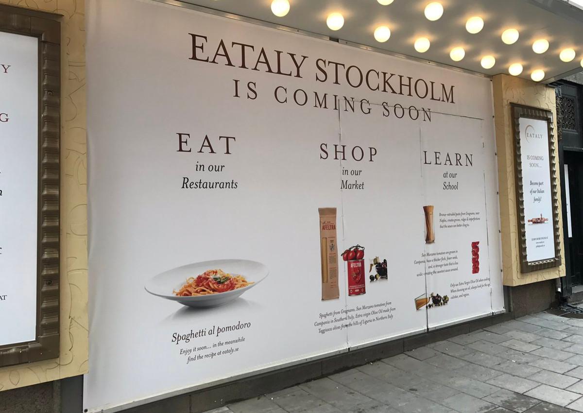 Eataly sbarca a Stoccolma
