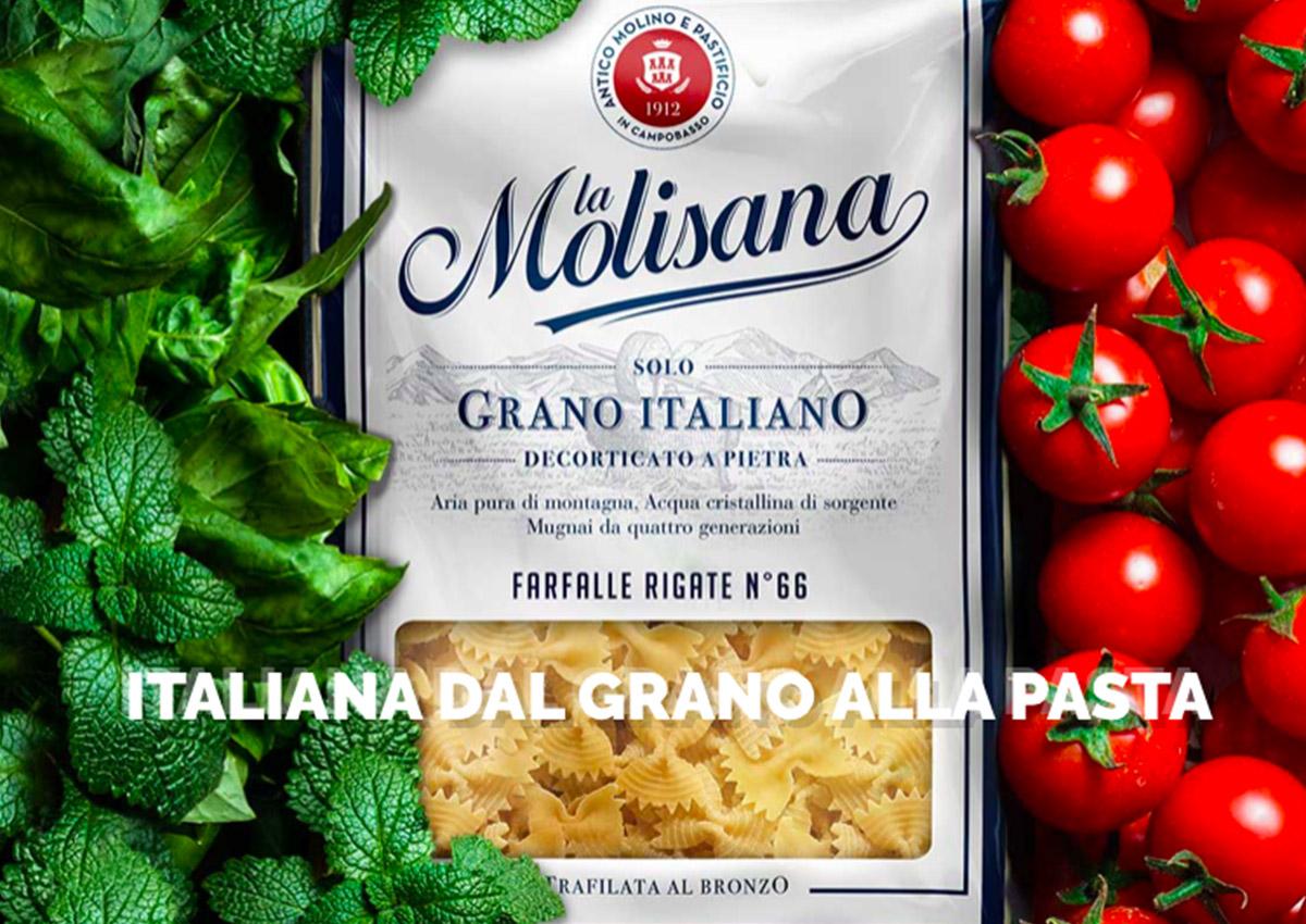La Molisana porta a scaffale la pasta 100% italiana