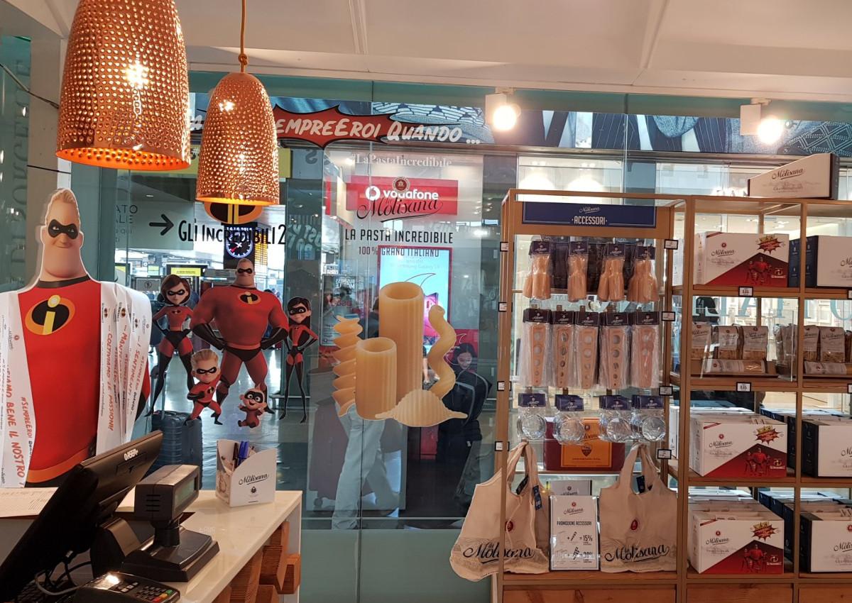 La Molisana-temporary store-100% grano italiano-Gli Incredibili