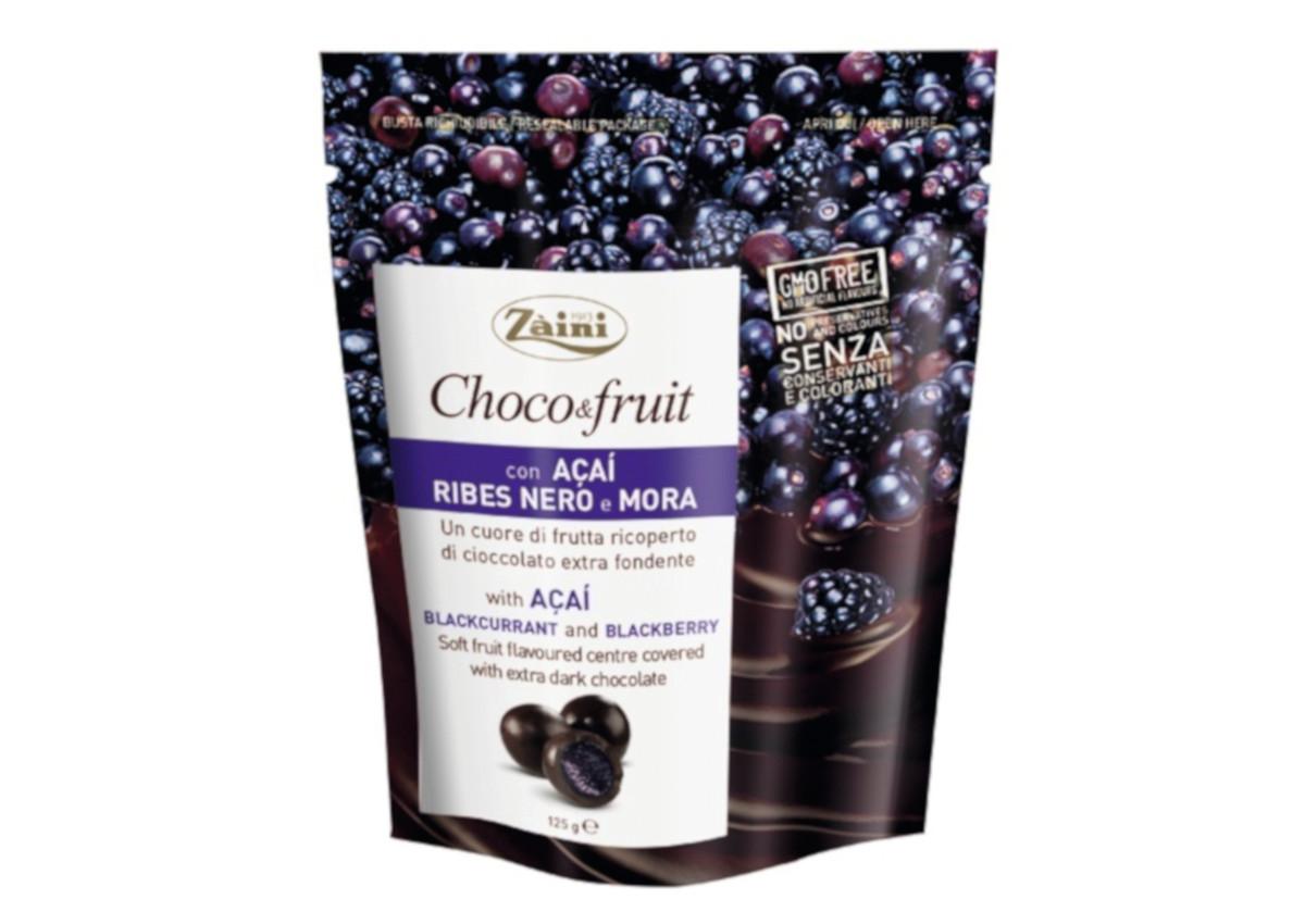 Zaini, Choco&Fruit with Acai, Blackcurrant and Blackberry-Italian Food Awards-Sial 2018