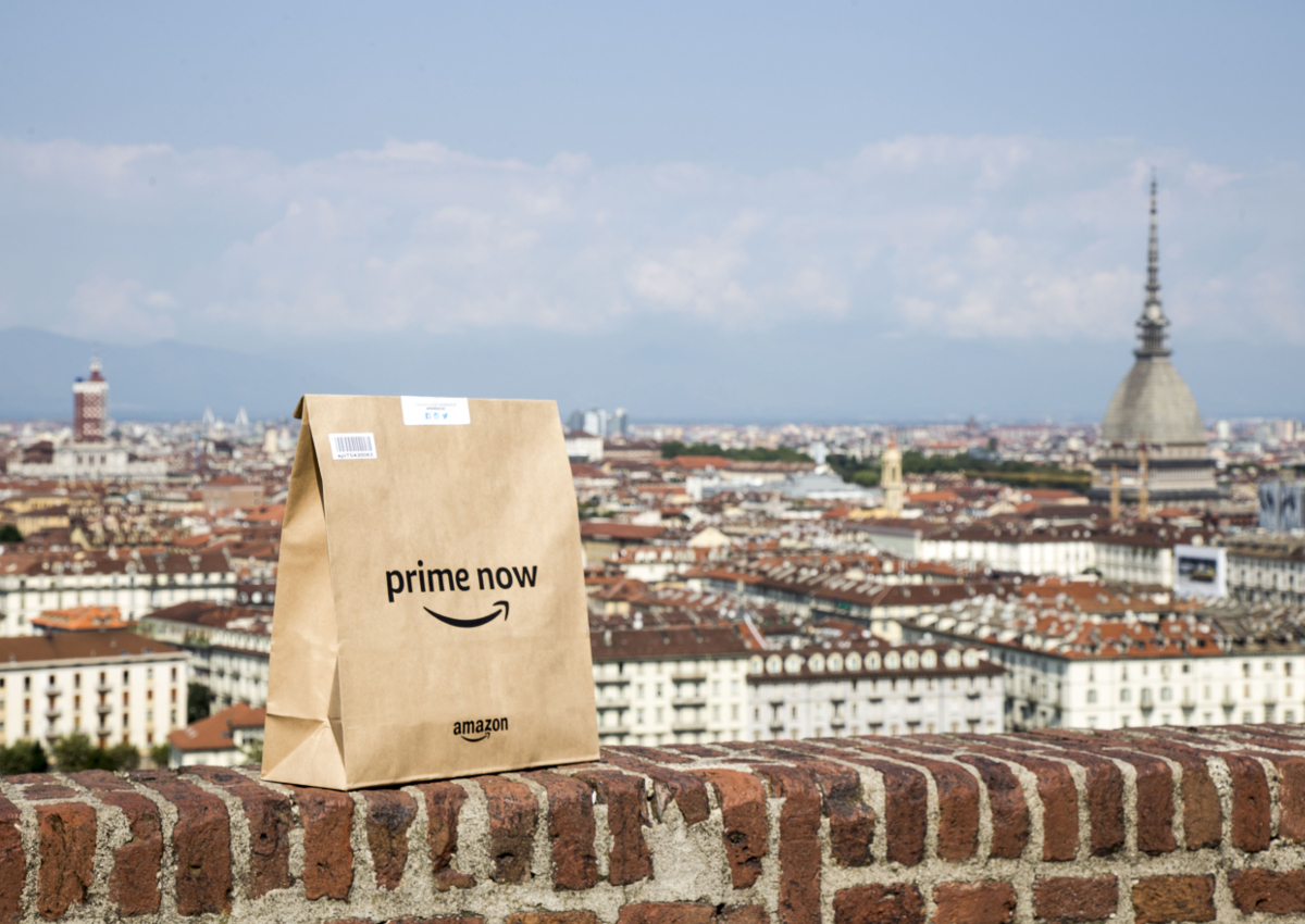 Amazon Prime Now arriva a Torino