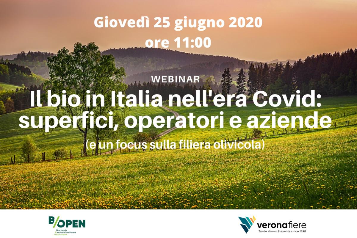B/Open di Veronafiere, un webinar sul bio
