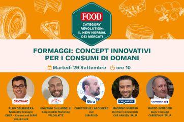 Formaggi: concept innovativi per i consumi di domani